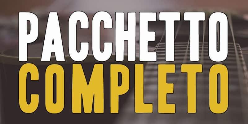 Con il Pacchetto completo di Chitarra Lab acquisti tutti i corsi presenti sul sito:189 lezioni, 7 ore di contenuti video seguendo il motto Bando alle Ciance